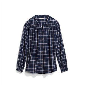 41 Hawthorn Mataya Smocked Flannel Shirt Small NWT